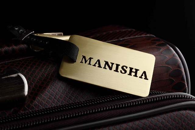 BRASS LUGGAGE TAG