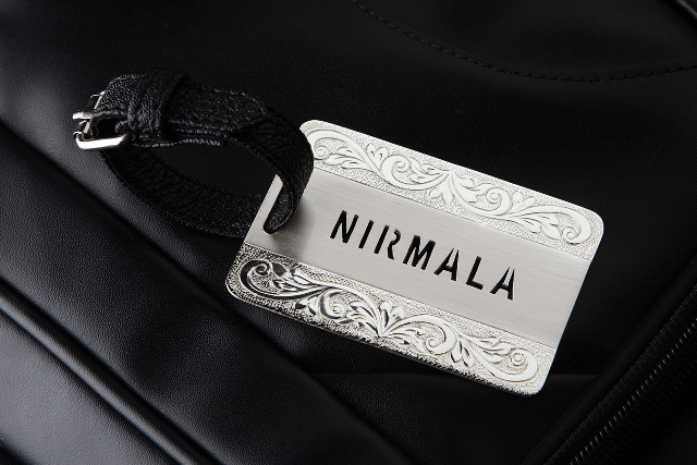 SILVER PLATED LUGGAGE TAG