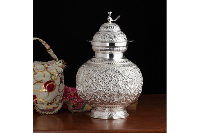 SILVER PLATED LAMP