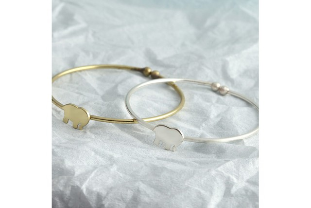 SILVER PLATED BABY BANGLES