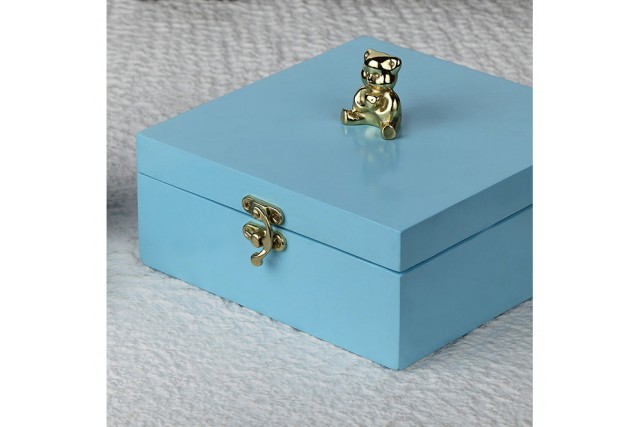 SILVER PLATED & WOODEN BOX