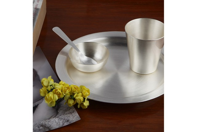 SILVER PLATED BABY THALI