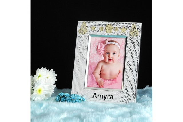 SILVER PLATED BABY FRAME