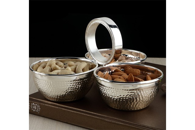 SILVER PLATED DRYFRUIT BOWL