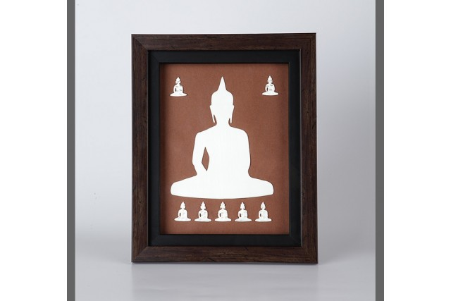 SILVER PLATED BUDDHA FRAME