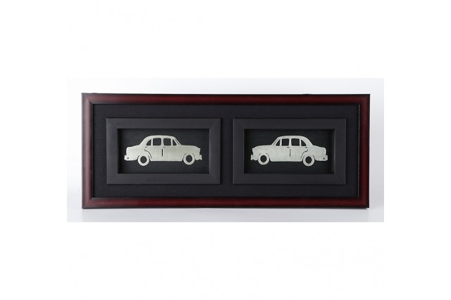 SILVER PLATED CAR FRAME