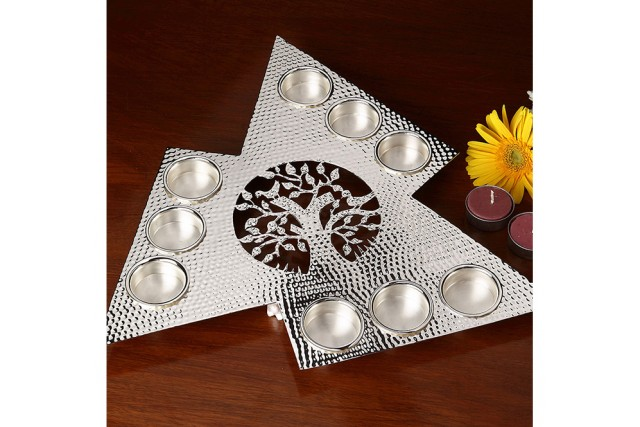 SILVER PLATED TEA LIGHT HOLDER