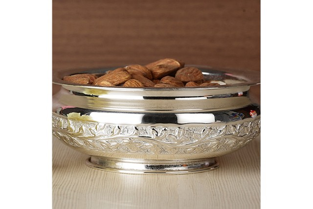 SILVER PLATED CHITAI BOWL