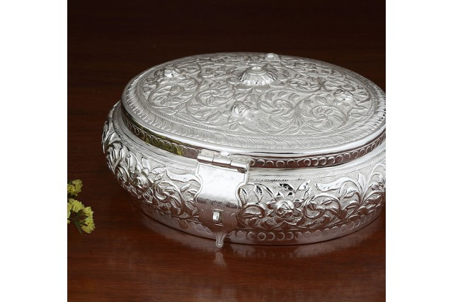 SILVER PLATED CHITAI BOX